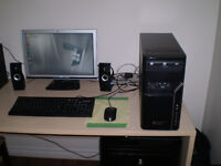 DUAL CORE 2.8GHz, 4GB RAM, 500BG HDD, WIN 7, COMPLETE COMPUTER