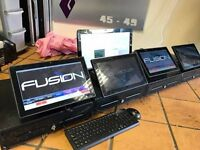 J2 Quantum Back Office TIll System 4x Touch Screen + Back Office PC with License