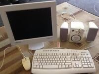 Computer Monitor and Keyboard/Speakers/Mouse