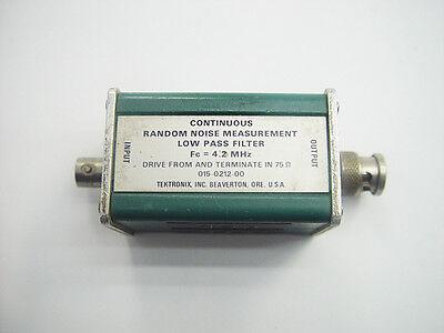Tektronix 015-0212-00 Continuous Random Noise Measurement Low Pass Filter 4.2mhz