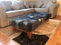 Handmade Jean Patchwork Coffee Table