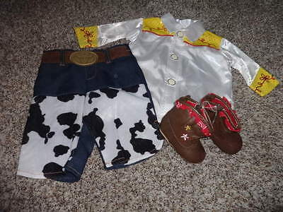 THE DISNEY STORE BABY TOY STORY JESSIE 3-6 OUTFIT AND 0-6 BOOTS - Infant Jessie Costume
