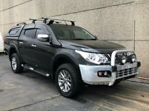 2015 Mitsubishi Triton MQ MY16 GLS (4x4) Black 5 Speed Automatic Dual Cab Utility Revesby Bankstown Area Preview