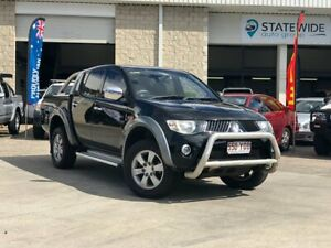 2008 Mitsubishi Triton ML MY09 GLX-R Double Cab Black 4 Speed Automatic Utility East Brisbane Brisbane South East Preview