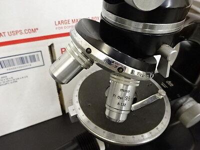 Microscope Polarizing Pol Leitz Wetzlar Germany Bertrand Optics As Is Btop