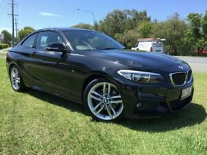 2015 BMW 2 Series F22 220i Sport Line Black 8 Speed Sports Automatic Coupe