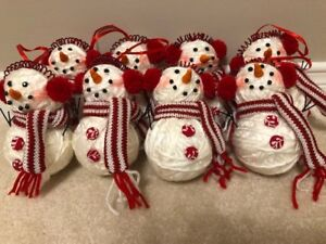 8 snowman ornaments - all 8 for $10