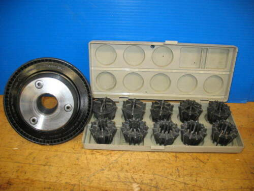 """JACOBS MODEL 50 COLLET CHUCK  + COLLETS .100""""- 1.060"""" L-00 CLAUSING COLCHESTER"""