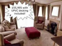 Luxurious Static Caravan Holiday Home For Sale in North Wales UPVC Decking inc.