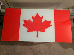 Canada Flag Coffee Table with Canada Patio Lights & More
