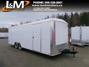 NEW 2018 CARGO EXPRESS 8.5' X 24' ENCLOSED CONTRACTOR TRAILER