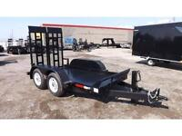 Low Deck Equipment Float Trailer Steel Floor