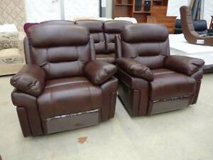 NEW MODERN LEATHER LOUNGE SUITES & NEW PILLOW TOP MATTRESSES Invermay Launceston Area Preview