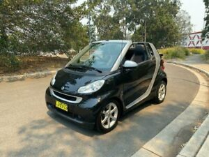 2008 Smart ForTwo 451 MY09 pulse mhd Cabriolet 3dr SMac 5sp 1.0i Black Cabriolet Arncliffe Rockdale Area Preview