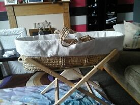 moses basket and stand used twice as new!