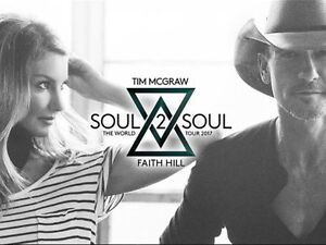 Tim McGraw/Faith Hill, Jun 3 - 2 VIP Gold Floor Tix (Face Value)