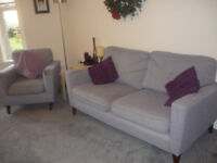 3 Piece Suite- Settee and 2 Chairs