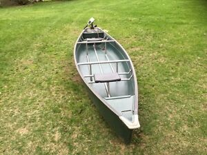 Square Back Canoe with Motor
