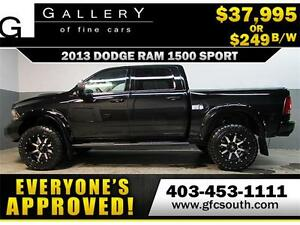 2013 DODGE RAM SPORT LIFTED *EVERYONE APPROVED* $0 DOWN $249/BW!