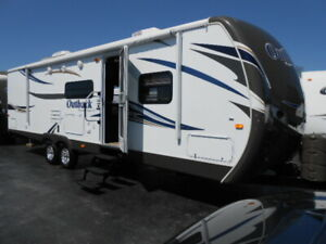 Keystone Outback 292BH, 32 pieds, 2013, familial bunk bed.