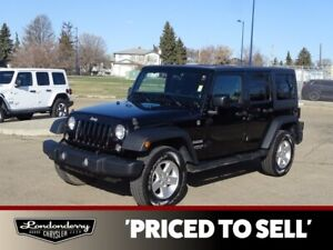 2014 Jeep Wrangler Unlimited 4WD  SPORT Accident Free,  A/C,