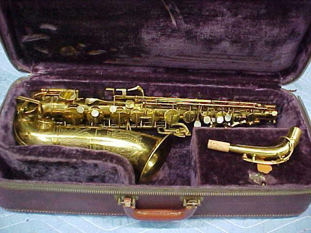 "Vintage Buescher ""Big B"" Alto Saxophone, Very Good Condition."