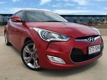 2012 Hyundai Veloster FS2 SR Turbo Red 6 Speed Semi Auto Hatchback Garbutt Townsville City Preview