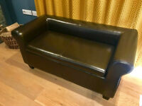 Two Seater Ravello Brown Leather Storage Ottoman, Cost £275 New, Bargain £85
