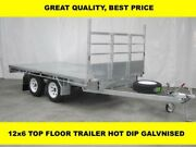 12x6 TOP FLOOR HOT DIP GALVANISED TRAILER, 3300kg ATM Dandenong South Greater Dandenong Preview