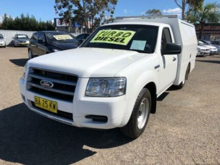 2008 Ford Ranger PJ 07 Upgrade XL (4x2) White 5 Speed Manual Cab Chassis Cabramatta Fairfield Area Preview