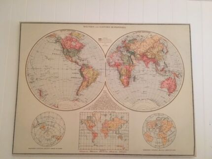 Canvas at typo gumtree australia free local classifieds large typo pastel world canvas map gumiabroncs Gallery