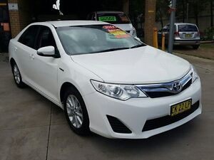 2014 Toyota Camry AVV50R Hybrid H White Continuous Variable Sedan Five Dock Canada Bay Area Preview