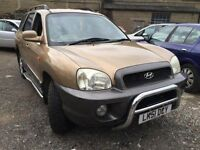 2001 Hyundai Santa Fe automatic, starts and drives very well, MOT until 28th December, car located i