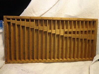 SALE! Vintage Printers HARRIS Rule Case Tray pencils pens chalk lures minis A1