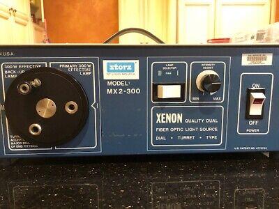 Storz Xenon Fiber Optic Light Source Model Mx2-300