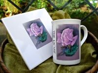 Limited Edition Printed Duo of 'The Rose' Mug and Tile.
