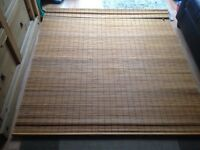 Large Wooden Roll-Up Blind. Solid wood strips, good quality.