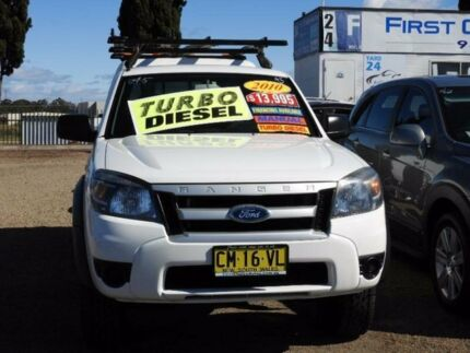 2010 Ford Ranger PK XL White Manual Cab Chassis
