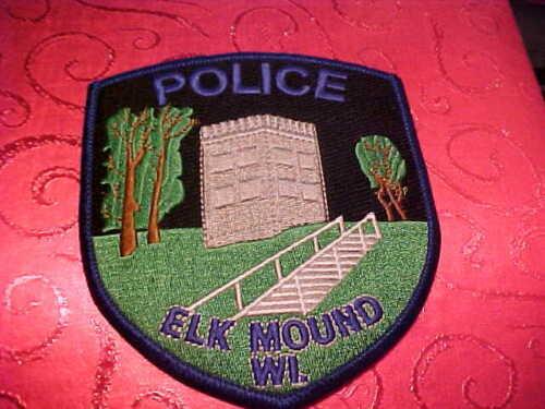ELK MOUND WISCONSIN POLICE PATCH SHOULDER SIZE UNUSED