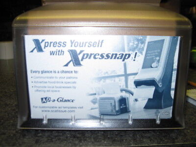 2 New Tork Xpressnap Ad-a-glance Tabletop Restaurant Napkin Dispensers Black