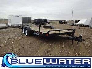 2016 3 Ton Carhauler 7 x 18!! 2' BEAVERTAIL & PULL OUT RAMPS!!
