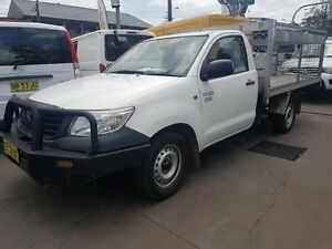 2012 Toyota Hilux TGN16R MY12 Workmate White 4 Speed Automatic Cab Chassis Yagoona Bankstown Area Preview