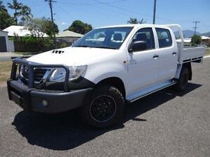 2012 Toyota Hilux KUN26R MY12 SR (4x4) White 5 Speed Manual Dual Cab Chassis Bungalow Cairns City Preview