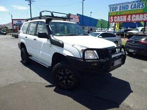 2009 Toyota Landcruiser Prado KDJ120R Standard White 6 Speed Manual Wagon Westcourt Cairns City Preview