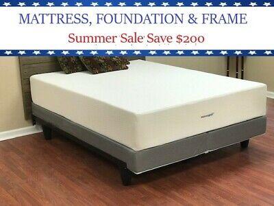 Mattress Angel® 10 inch TWIN XL Memory Foam Mattress, Foundation & Bed Frame - Memory Foam Mattress Foundation