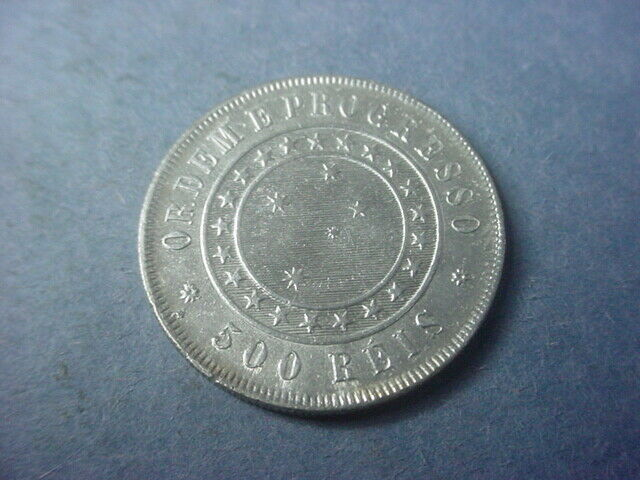 Brazil 500 Reis 1889 Lovely UNC #37678