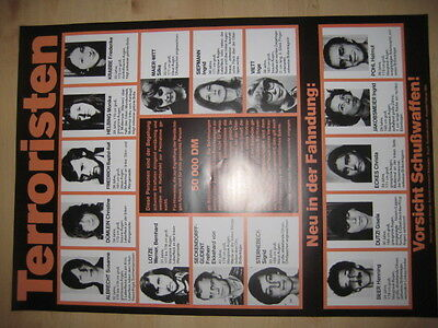Terroristen - RAF Fahndungsplakat 1983