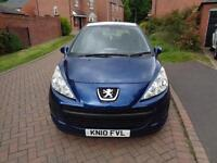 2010 Peugeot 207 1.4 ( a/c ) ( 09 ) S 5dr Blue Petrol Maunal Only 96k Miles