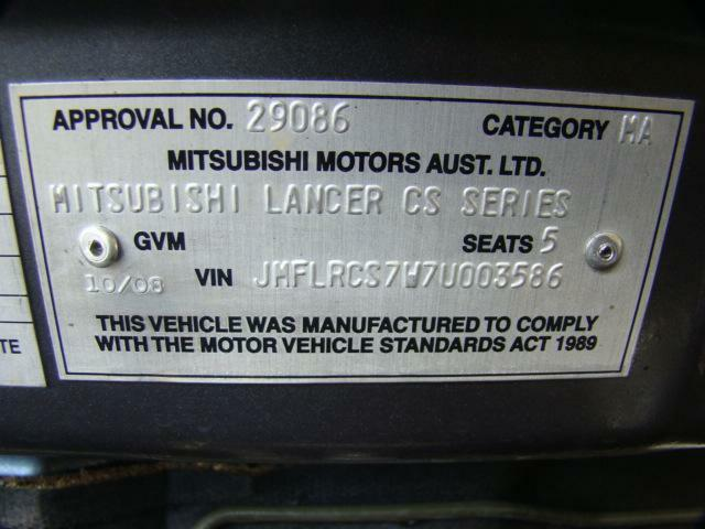 Mitsubishi Lancer Fuse Box In Engine Bay Cgh 24ltr Petrol Auto 07 Rhebay: Mitsubishi Lancer Vin Location At Gmaili.net
