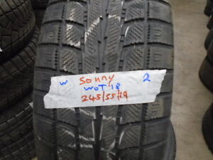 PAIR USED WINTER 245-55-19 { SONNY-WOT 18 } R.H AUTO Kitchener / Waterloo Kitchener Area image 1